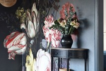 dark-floral-wall-painting